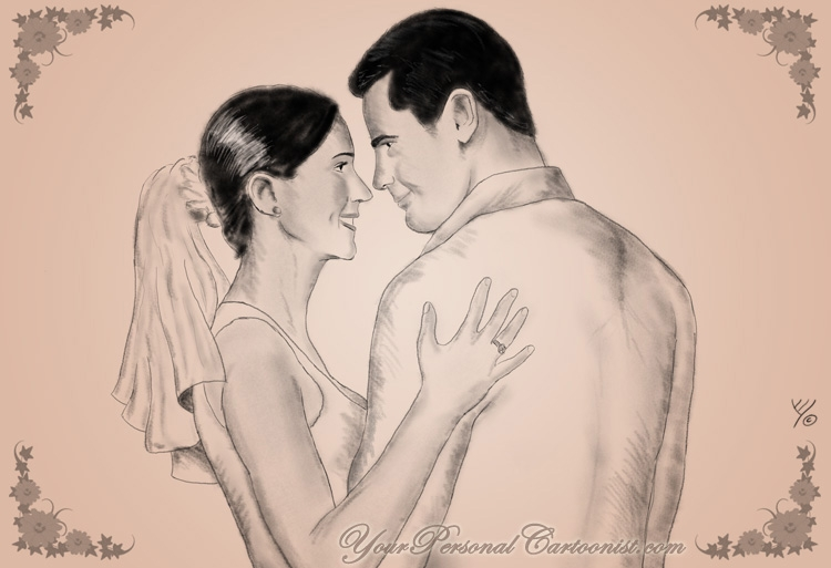 Wedding Illustration - Sketch Style