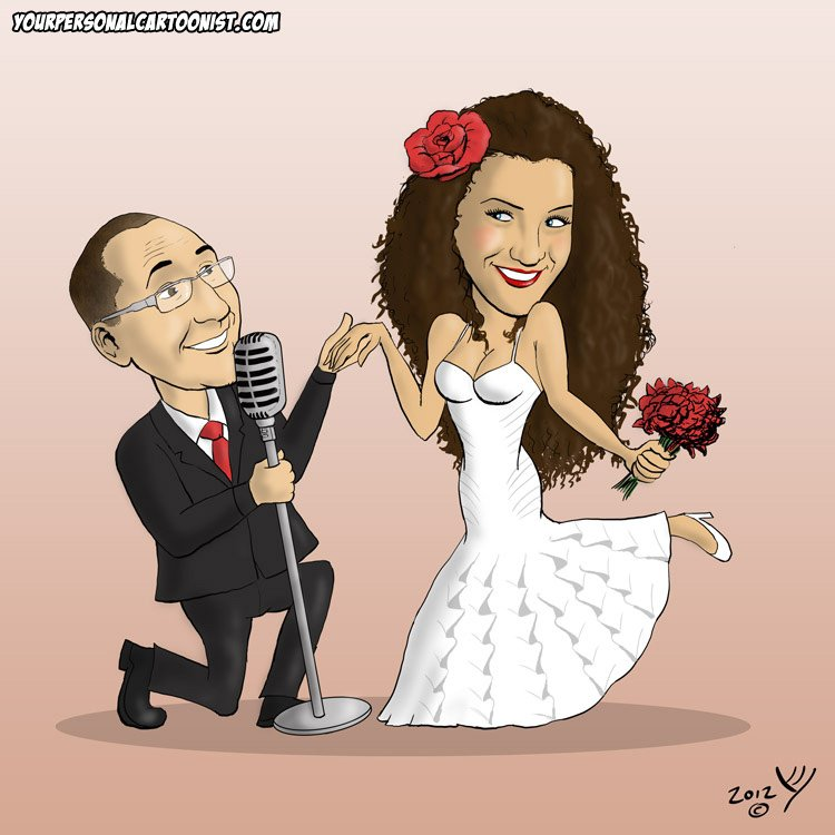 Wedding Caricature - Serenading