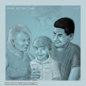 Family Sketch - Grandparents and Grandchild