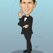 Business Caricature - Business Man in a Tux