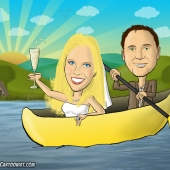 Wedding Caricature - Canoe Lodge