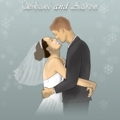 Wedding Illustration - Bride and Groom - Realistic Drawing
