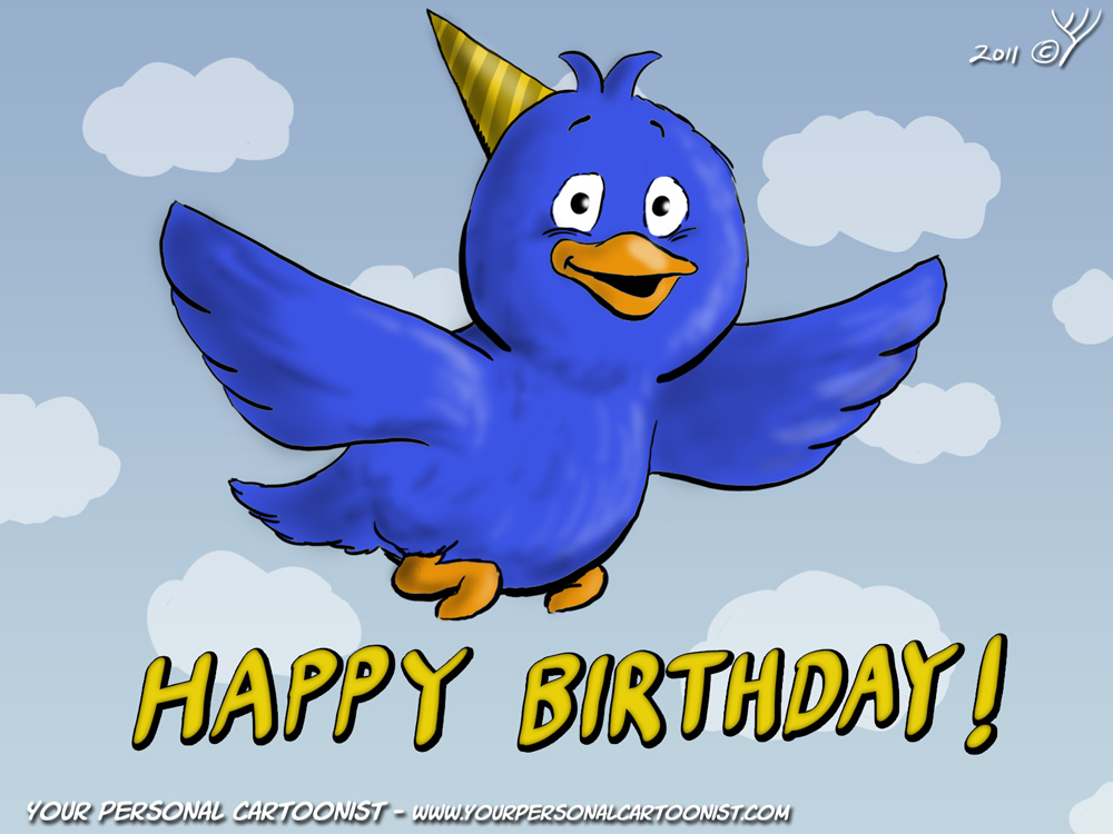 Blue Bird Cartoon Clipart