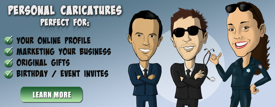 Welcome Slide - Personal Caricatures
