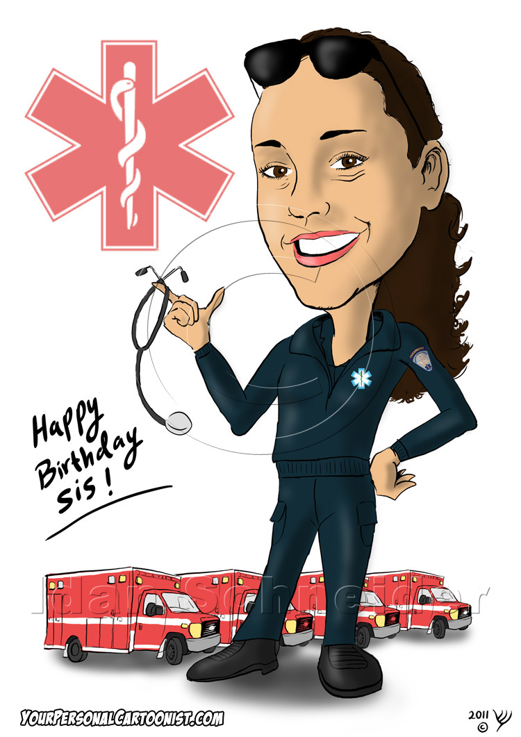 Caricatures From Photos - The Paramedic