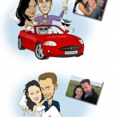 Wedding Caricature - Caricatures from Photos Sample